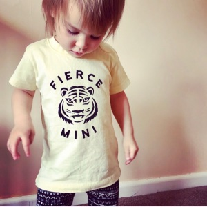 Fierce Mini Tiger Graphic Print Kids Slogan Tshirt