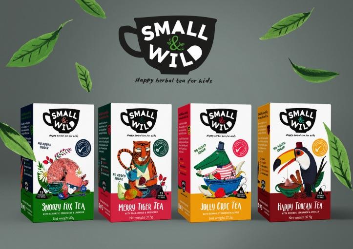 Small & Wild - Range - Children's Tea Branding Packaging copy